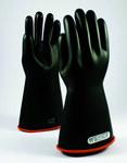 PIP Novax 155-1-14 Black/Orange 9 Rubber Work Gloves - 14 in Length - Smooth Finish - 155-1-14/9
