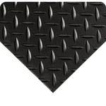 Wearwell SWITCHBOARD MATTING 701.14x3x75BK 701 Black PVC Diamond-Plate DIAMOND-PLATE MATTING - 3 ft Width - 75 ft Length - WEARWELL 701.14X3X5BK