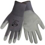 Global Glove PUG13 Gray 8 Nylon Work Glove - Polyurethane Palm Only Coating - Smooth Finish - PUG13/8