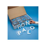Brady Quik-Align 80032 White Vinyl Letters Label Kit - Outdoor - 2 in Height - 2 in Character Height