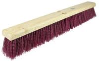 Weiler 420 Deck Brush Head - Polypropylene 3 1/4 in Bristle - 18 in Hardwood Block - 42025