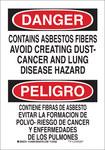 Brady B-555 Aluminum Rectangle White Hazardous Material Sign - 10 in Width x 14 in Height - Language English / Spanish - 38264