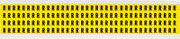 Brady 34 Series 3400-R Black on Yellow Vinyl Cloth Letter Label - Indoor - 1/4 in Width - 3/8 in Height - 1/4 in Character Height - B-498