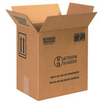 Shipping Supply Kraft 1 Gallon F-Style Paint Can Boxes - 11.375 in x 8.1875 in x 12.375 in - SHP-2229