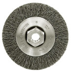 Weiler Steel Wheel Brush 0.014 in Bristle Diameter - Arbor Attachment - 4 in Outside Diameter - 13078