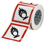 Brady 121204 White / Black / Red Diamond Polyester Chemical Hazard Label - 4 in Width - 4 in Height - B-7541