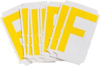 Brady Quik-Align 5110-F Yellow Vinyl Letter Label - Outdoor - 3 in Height - 3 in Character Height - B-933