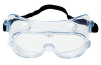 3M 334 Polycarbonate Safety Goggles Clear Lens - Direct Vent - 078371-62139
