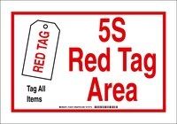Brady B-302 Polyester Rectangle White Designated Tag Area Sign - 7 in Width x 10 in Height - Laminated - 122275