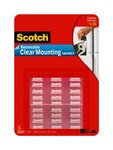 3M Scotch 859 Clear Mounting Tape Squares - 11/16 in Width x 11/16 in Length - 72534