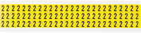 Brady 34 Series 3410-2 Black on Yellow Vinyl Cloth Number Label - Indoor - 11/32 in Width - 1/2 in Height - 3/8 in Character Height - B-498