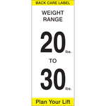 Brady 92307 Black / Yellow on White Paper Equipment Safety Label - 2 in Width - 5 in Height - 92302
