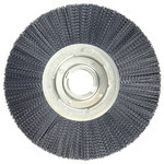 Weiler Ceramic Wheel Brush 0.043 in Bristle Diameter 120 Grit - Arbor Attachment - 12 in Outside Diameter - 2 in Center Hole Size - 86133