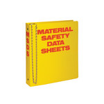 Brady Red on Yellow MSDS & GHS Data Sheet Binder - MATERIAL SAFETY DATA SHEETS - English - 754476-45989