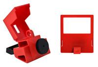 Brady Red Polypropylene Circuit Breaker Lockout Device 65397 - Clamp-On - 2.175 in Width - 1.588 in Height - 754476-65397