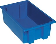 Quantum Storage 0.5 ft, 3.7 gal Blue Industrial Grade Polymer Stackable Tote - 18 in Length - 11 in Width - 6 in Height - 03885