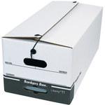 Shipping Supply White String and Button File Storage Boxes - 24 in x 12 in x 10.25 in - SHP-2332