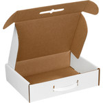 Oyster White Corrugated Carrying Case - 12 1/8 in x 9 1/4 in x 3 in - SHP-2742