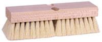 Weiler 440 Rectangular Scrub Brush - Hardwood Handle - White Tampico Bristle - Hardwood Block - 10 in Overall Length - 44028