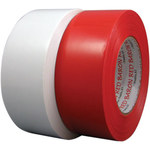 Polyken Berry Global 824 Red Polyethylene Film Masking Tape - 1 1/2 in Width x 60 yd Length - 824 1.5 X 60YD RED