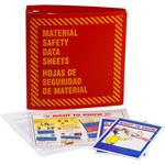 Brady Prinzing Yellow on Red MSDS & GHS Data Sheet Binder - MATERIAL SAFETY DATA SHEETS - English/Spanish - 754473-43580
