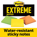 3M Post-it Extreme Assorted Notes Pad - 3 in Overall Length - 3 in Width - 135 Sheets - 07572
