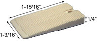 Precision Brand Wedgies White Vinyl Installation Shims - 1 3/16 in Width x 1 15/16 in Length x 1/4 in Thick - 48805