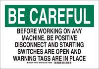 Brady B-302 Polyester Rectangle Black Lockout Sign - 10 in Width x 7 in Height - Laminated - 85754