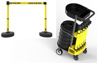 Banner Stakes Plus Yellow Barrier Set with Cart - BANNER STAKES PL4078T
