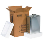 Shipping Supply Kraft 1 Gallon F-Style Shipper Kit - 8.1875 in x 5.6875 in x 12.375 in - SHP-2249