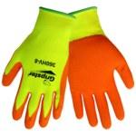 Global Glove Gripster 360HV Orange Large Nylon Work Gloves - Rubber Foam Palm & Fingers Coating - Rough Finish - 360HV/LG