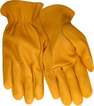 Red Steer 1507 Yellow Large Grain Elkskin Leather Driver's Gloves - Keystone Thumb - 1507-L