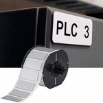 Brady B30EP-171-593-WT White Polyester Die-Cut Thermal Transfer Printer Label Roll - 0.49 in Width - 1.06 in Height - B-593