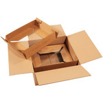 Shipping Supply Kraft Laptop Shipping System - 17 in x 17 in x 8 in - SHP-2321