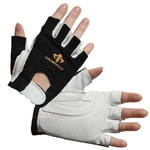 Impacto 410-30 RH Black/White Medium Leather/Nylon/Visco-Elastic Polymer Work Glove - 41030110032