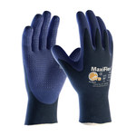 PIP MaxiFlex Elite 34-244 Blue/Gray Large Nylon Work Gloves - EN 388 1 Cut Resistance - Nitrile Palm & Fingertips Coating - 34-244/L
