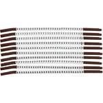 Brady Clip Sleeve SCNC-15 Black on White Nylon Clip-On Sleeve - 32894