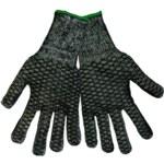 Global Glove T800HC Black Large Acrylic Work Glove - Silicone Palm & Fingers Coating - T800HC/LG