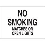 Brady B-401 High Impact Polystyrene Rectangle White No Smoking Sign - 14 in Width x 10 in Height - 25130