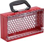 Brady SlimView Red Steel Group Lock Box 150505 - 10.125 in Height - 12 Padlock Capacity - 754473-61540