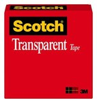 3M Scotch 600 Clear Box Sealing Tape - 3/4 in Width x 1296 in Length - 2.3 mil Thick - 07457