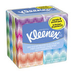 Kleenex White Facial Tissue - 3 Ply - Packet - 8.6 in Overall Length - 8.3 in Width - 11974