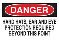 Brady B-401 Polystyrene Rectangle White PPE Sign - 10 in Width x 7 in Height - 25214