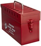 Honeywell Red Steel Group Lockout Box - 13 Padlock Capacity - HONEYWELL GLB03/E