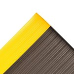 Notrax Airug 410 Black/Yellow Closed-Cell Foam Ribbed Anti-Fatigue Mat - 2 ft Width - 3 ft Length - 410 2 X 3 BKYL 3/8IN