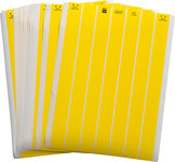 Brady Lasertab LAT-7-747-10-YL Yellow Polyester Laser Printable Label - 1 in Width - 1/2 in Height - B-747