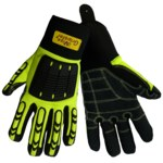 Global Glove Vise Gripster SG9966 Yellow Large Synthetic Leather Work Glove - Rough Finish - SG9966/LG