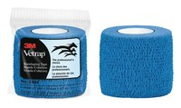 3M Vetrap 1404B Blue Round Bandaging Tape - 2 in Width - 5 yds Length - 051115-04853