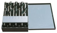 Chicago-Latrobe 190 Reduced Shank Drill Set - Radial 118° Point - Spiral Flute - Right Hand Cut - High-Speed Steel - 69857