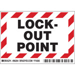 Brady 86204 Black / Red on White Rectangle Polyester Lockout / Tagout Label - 5 in Width - 3 1/2 in Height - B-302